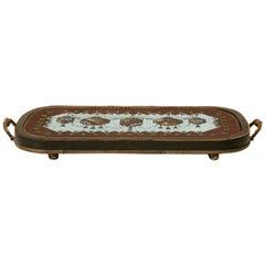 c.1880 English Hand-beaded Tea Trivet/Tray