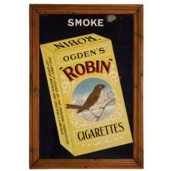 Framed Vintage English Vitreous Enamel Advertisement