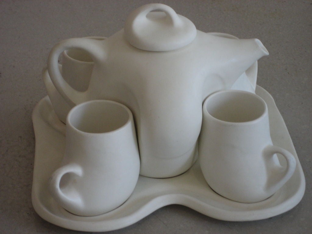 White Modernist Tea Set By Peter Saenger At 1stdibs