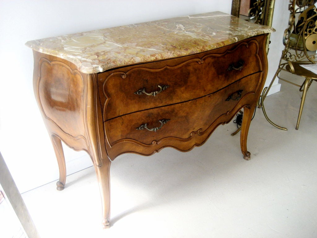 Marble top bombay chest by paine furniture company at 1stdibs - Marble tops for furniture ...
