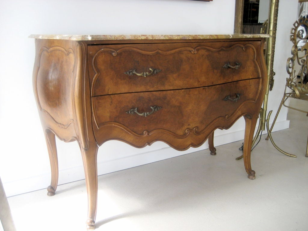 Marble Top Bombay Chest by Paine Furniture pany at 1stdibs