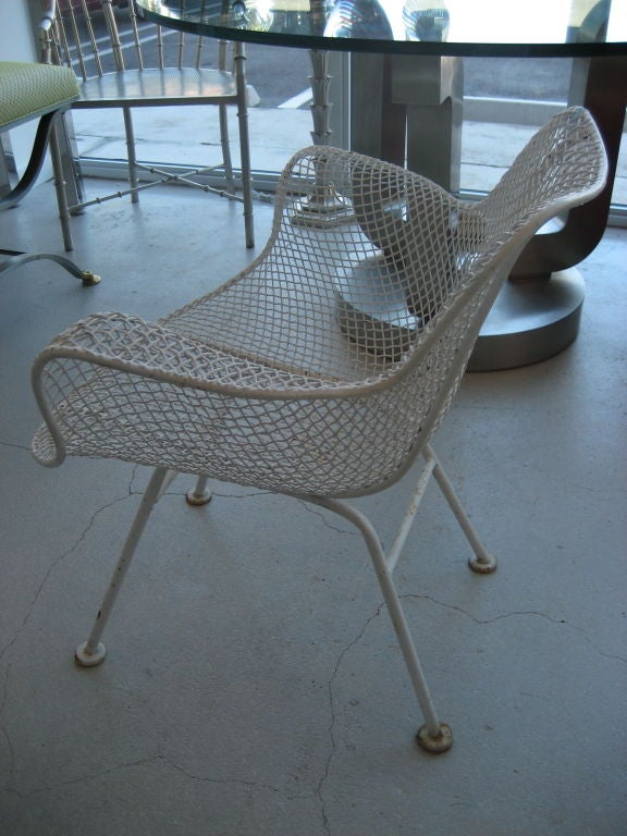 Set of Six Woodard Mid Century Modern Patio Chairs at 1stdibs