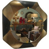 French Bent Metal Mirror with Reverse Light