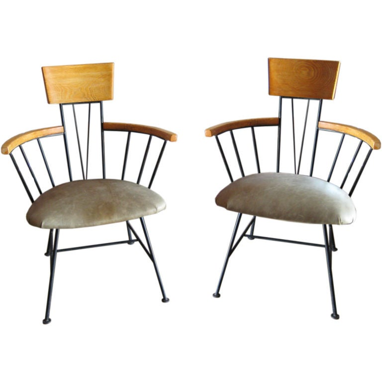 Pair Of 1950 S Side Chairs By Richard Mccarthy At 1stdibs