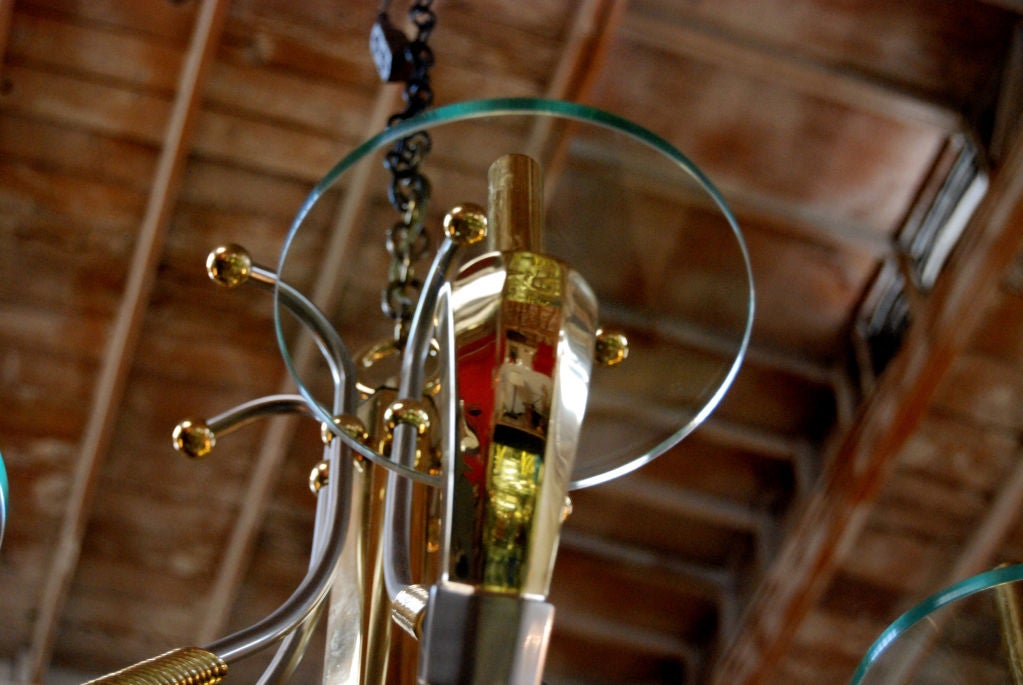 1970s French Chandelier In Good Condition For Sale In Cathedral City, CA