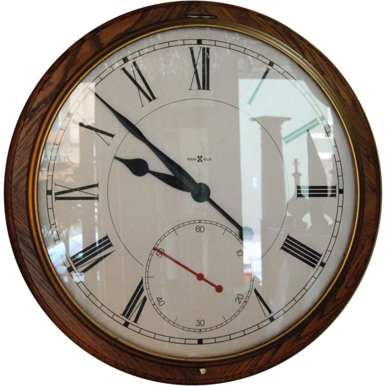 Large howard miller wall clock at 1stdibs for Howard miller large wall clock