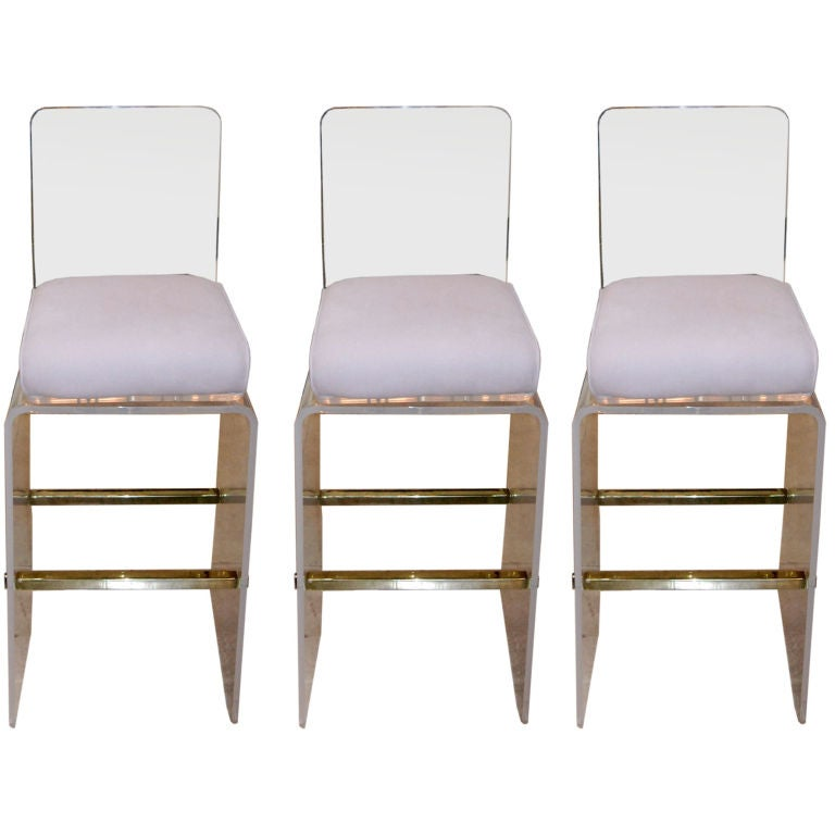 Set Of Three Waterfall Barstools By Charles Hollis Jones