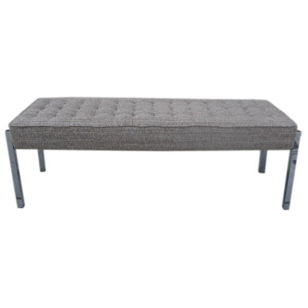 Long Bench In The Manner Of Florence Knoll At 1stdibs