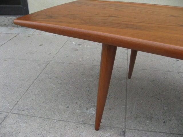 1950s Teak Danish Coffee Table By MM Moreddi 3