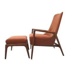 A Danish Lounge Chair and Ottoman by Ib Kofod-Larsen