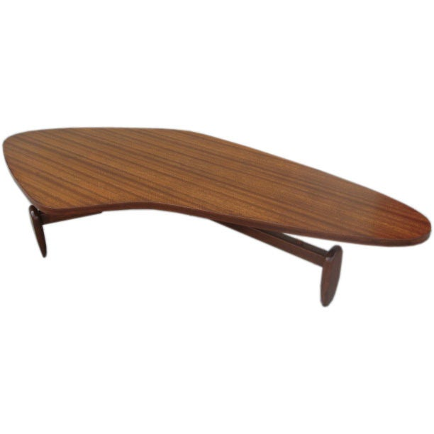 Boomerang 1950s Coffee Table By John Keal For Brown