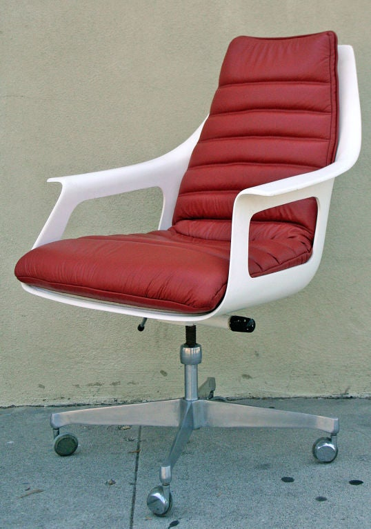 german mid century desk chair by luigi colani at 1stdibs