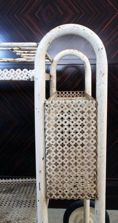 Mathieu Mategot Perforated Metal And Bent Tubing Tea Cart