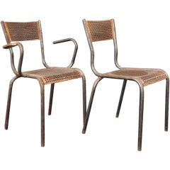 French Mid-Century Chairs by Mathieu Mategot , Pair