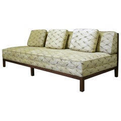 A Large Walnut Framed  Sofa by Michael Taylor for Baker