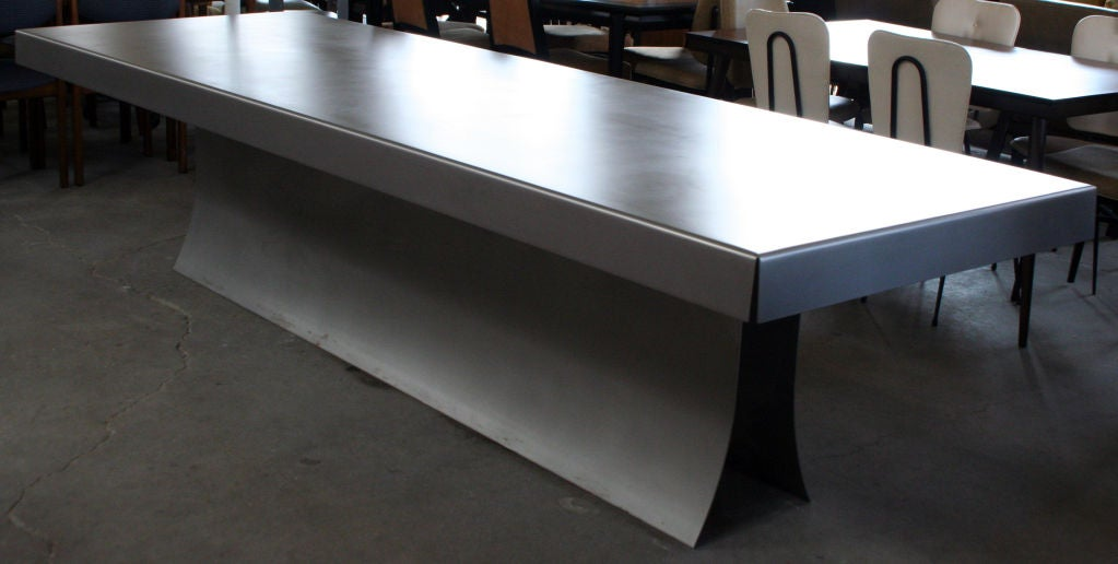 ... Steinberg Furniture By Soft Satin Finish Steel Table By Lenny Steinberg  At 1stdibs ...