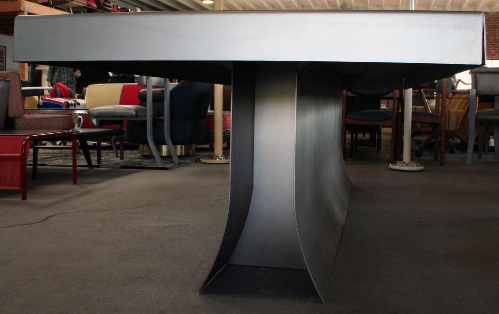Beautiful ... Steinberg Furniture By Soft Satin Finish Steel Table By Lenny Steinberg  At 1stdibs ...