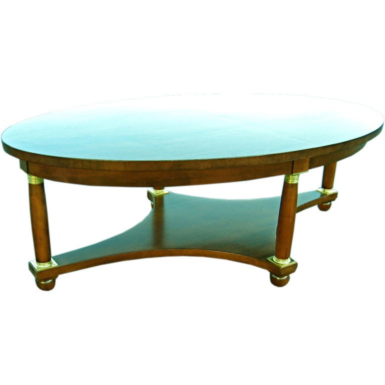 Empire Style Coffee Table By Baker For Sale At 1stdibs
