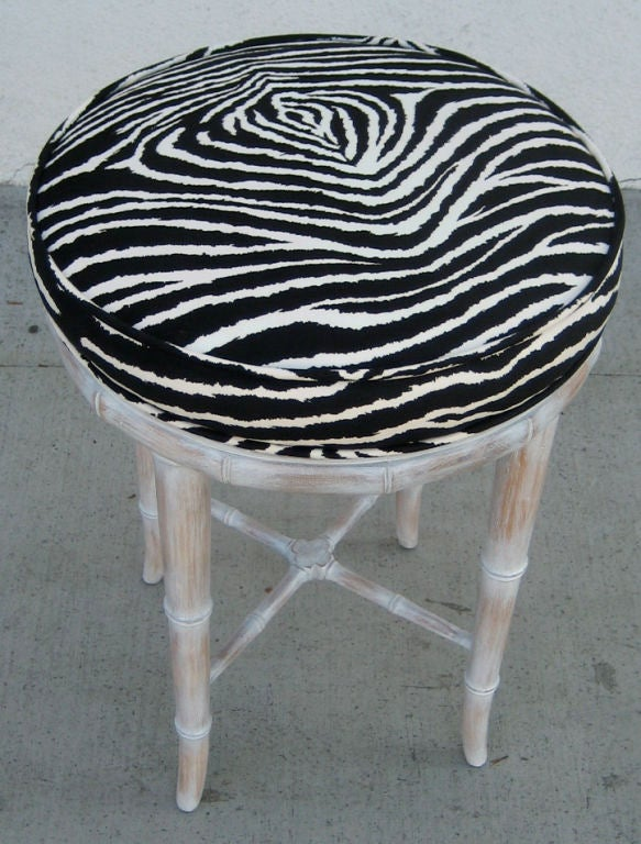 Faux Bamboo Stool with Zebra Seat For Sale at 1stdibs : img0016 from www.1stdibs.com size 583 x 768 jpeg 94kB