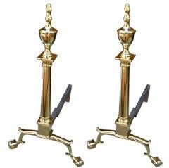 Antique Pair of Federal Andirons
