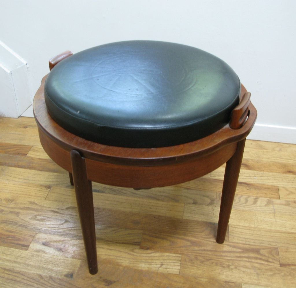 Norwegian Sewing Stool Table At 1stdibs