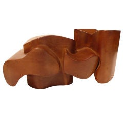 Jan De Swart Biomorphic Wooden Sculpture