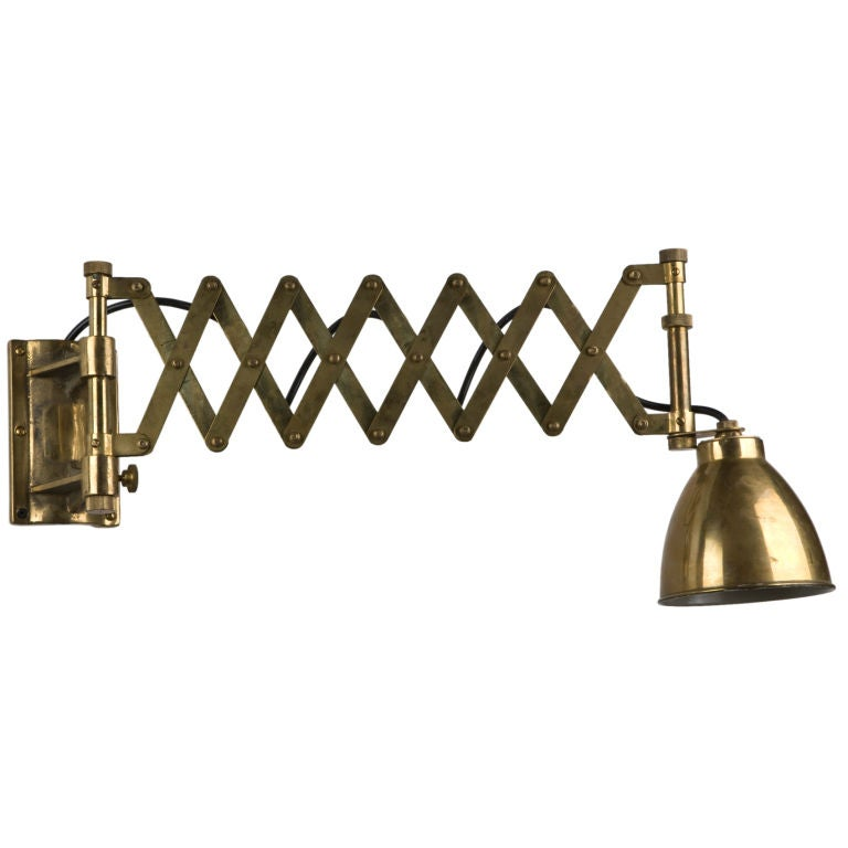 Wall Lights Extendable : An antique extendable chart light at 1stdibs