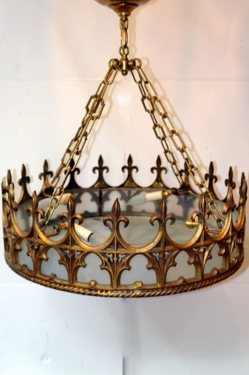 Large Gothic Style Pendant Fixture At 1stdibs