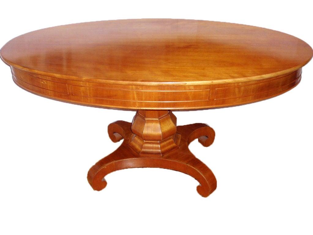 Biedermeier esstisch oval design for Esstisch oval glas