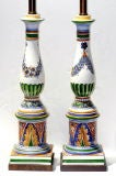Pair of Hand-Painted Lamps