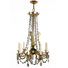 Empire Chandelier with Crystals