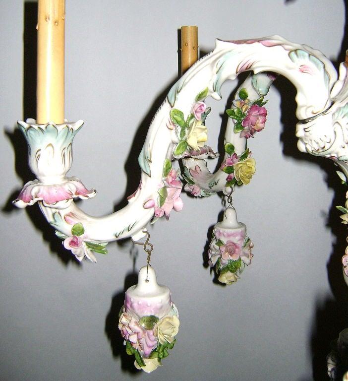 Meissen Porcelain Chandelier at 1stdibs