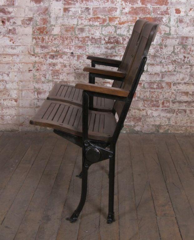 Heywood - Wakefield Vintage Wood & Cast Iron Theater Seating 3
