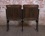 Heywood - Wakefield Vintage Wood & Cast Iron Theater Seating image 5