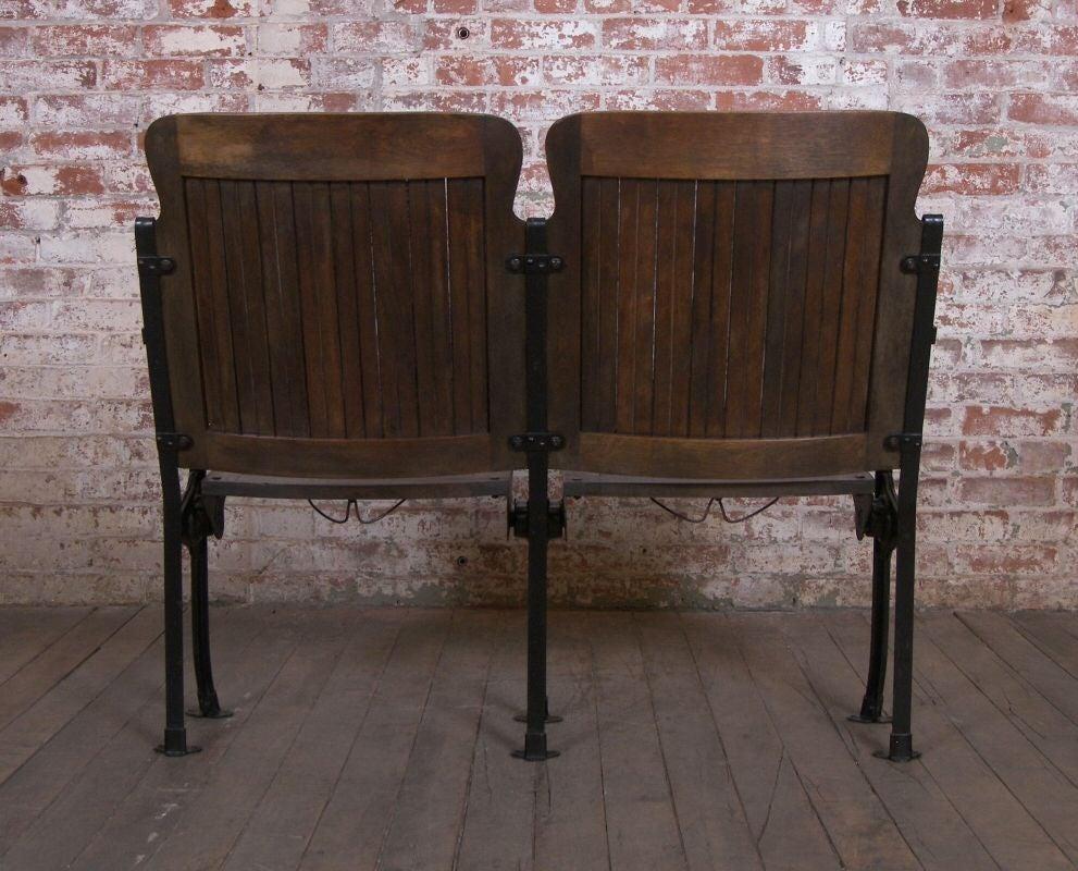 Heywood - Wakefield Vintage Wood & Cast Iron Theater Seating 5