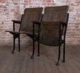 Heywood - Wakefield Vintage Wood & Cast Iron Theater Seating image 6