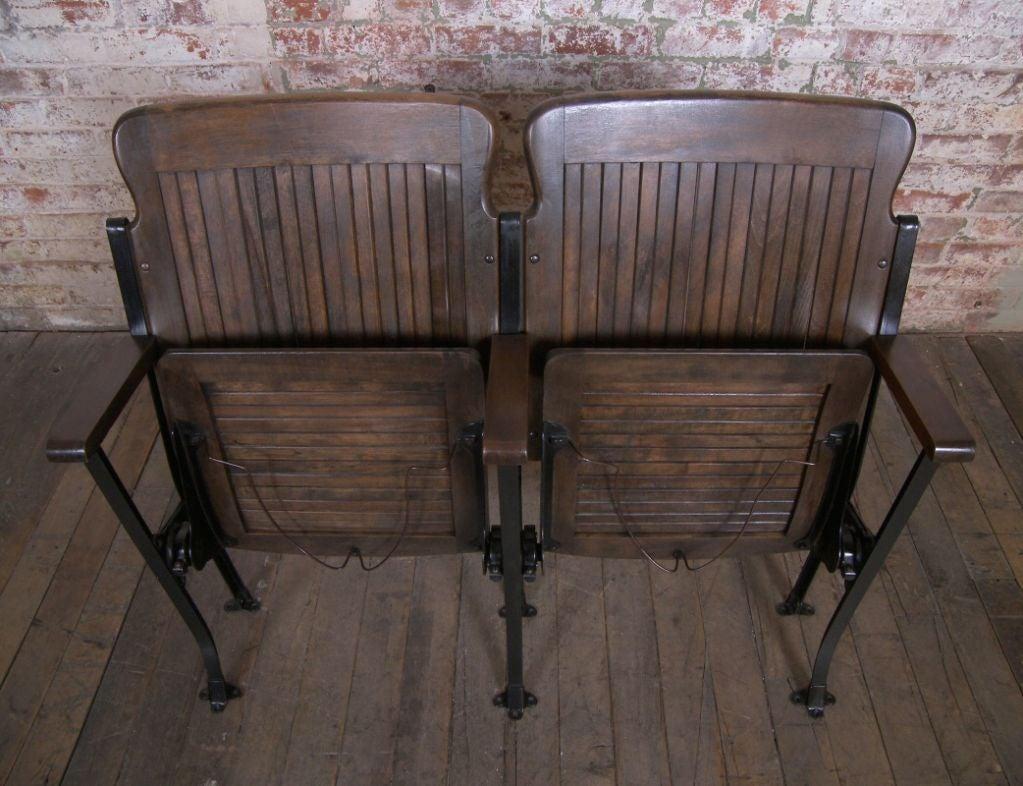 Heywood - Wakefield Vintage Wood & Cast Iron Theater Seating 7