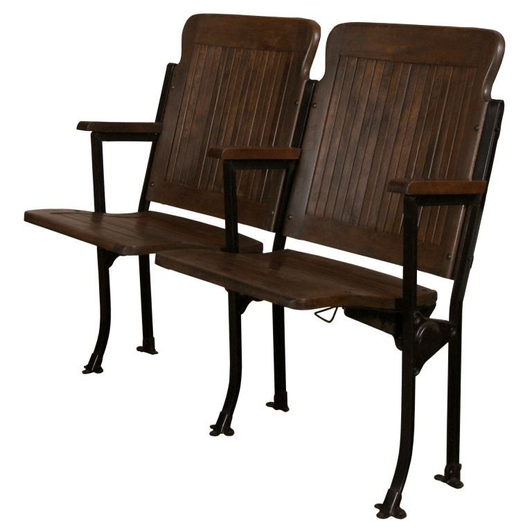 Amazing Heywood Wakefield Vintage Wood And Cast Iron Theater Gmtry Best Dining Table And Chair Ideas Images Gmtryco
