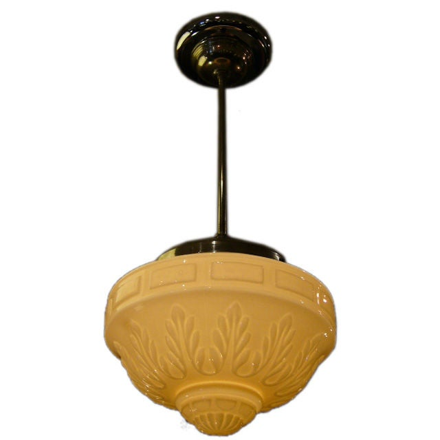 Period 30 S Acanthus Globe Chandelier At 1stdibs