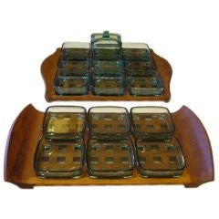 Jens Quistgaard Dansk Teak Trays with Glass Inserts