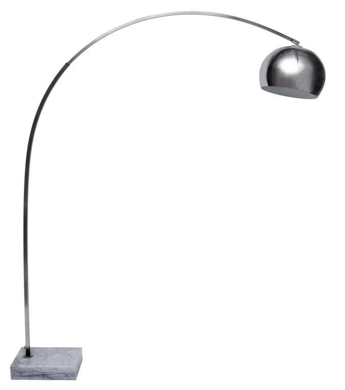 1970s chrome arc floor lamp at 1stdibs. Black Bedroom Furniture Sets. Home Design Ideas
