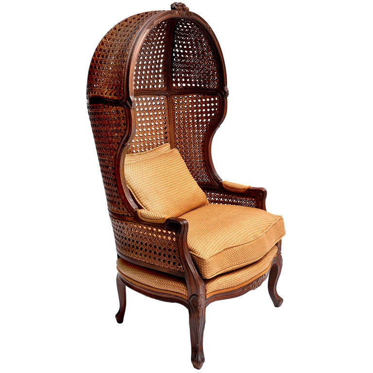 1960s Missoni Wingback Chair At 1stdibs: CANED HOODED CHAIR CIRCA 1960S At 1stdibs