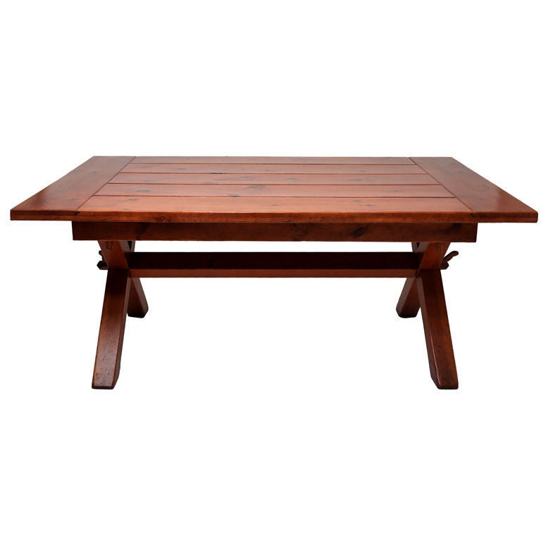 Farm Trestle Table or picnic style at 1stdibs