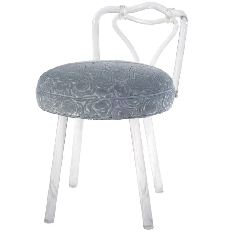 Lucite vanity chair at 1stdibs - Acrylic vanity chair ...