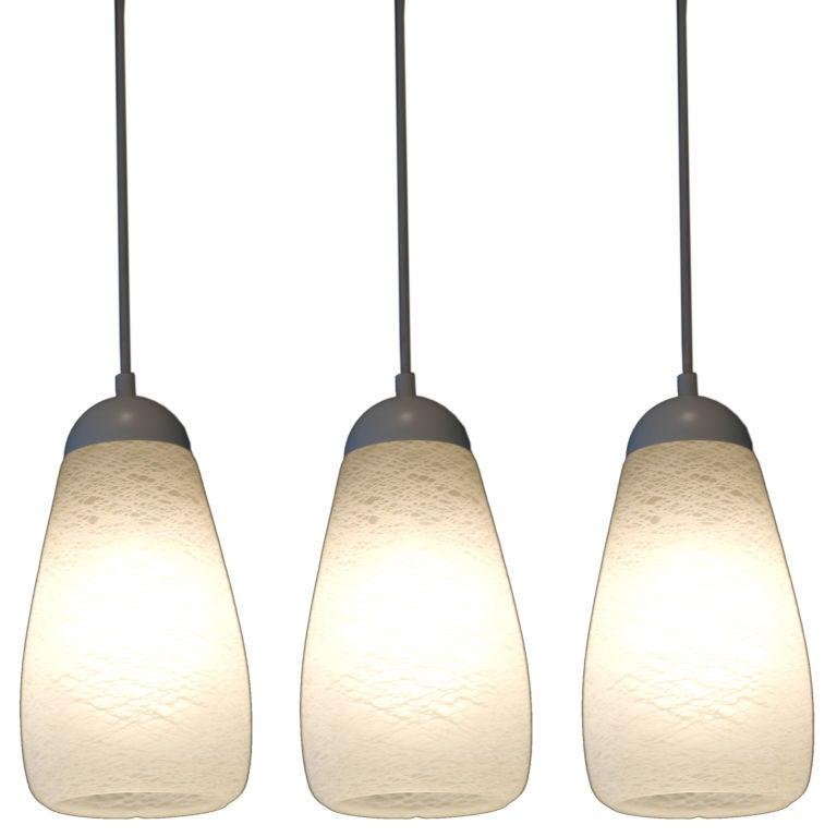 Set Of Three Murano Pendant Lights At 1stdibs