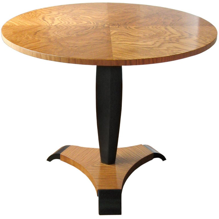 ... Art Deco pedestal side table in elm with tripod base by Reimers Mobler