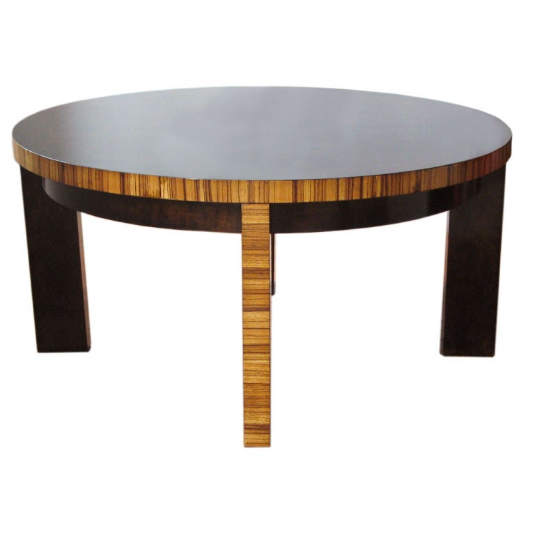 Zebra Wood And Stained Birch Art Deco Coffee Table Sweden 1930 At