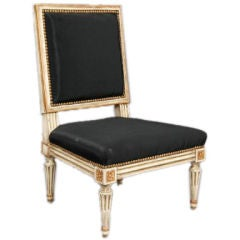 Petite Maison Jansen Gilt Slipper Chair