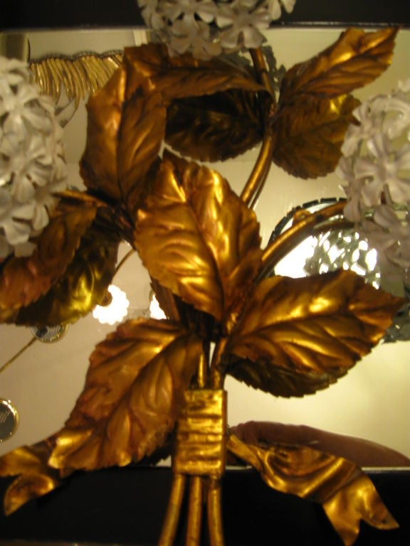 Pair of Hydrangea Sconces image 2