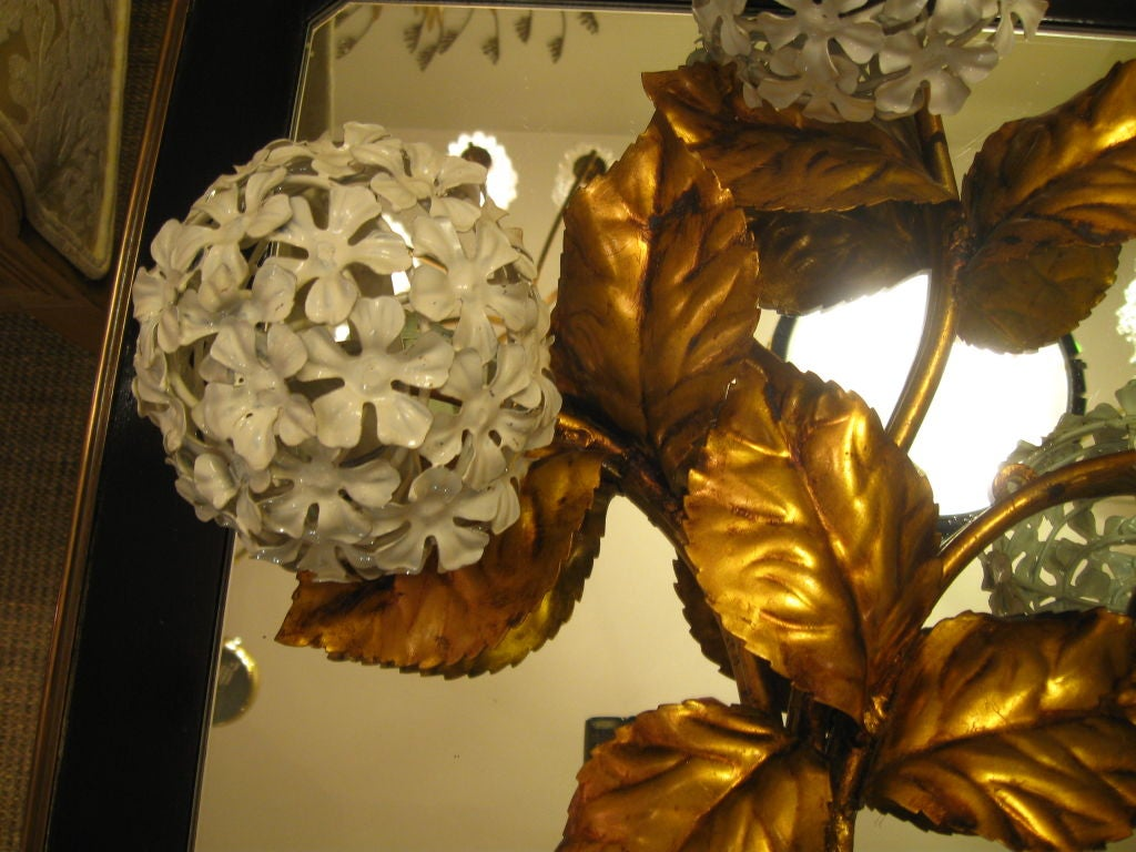 Pair of Hydrangea Sconces image 3